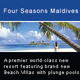 Four Seasons Resort Maldives at Kuda Huraa will reopen in November 2006 as a premier world-class new resort featuring brand new Beach Bungalows with plunge pools and breathtaking ocean views. The extra-spacious Beach Pavilions have increased space; some of the units have interconnecting gates which make them the perfect choice for a family on vacation. The Water Bungalows with fresh new interiors and enlarged bathrooms and living space, offer maximum privacy and uninterrupted sea views. Set amidst a vibrant garden island favoured for its Maldivian village setting and legendary Four Seasons service, the resort's 96 luxuriously appointed bungalows combine a generous use of timber and thatch with modern furnishings and comforts.